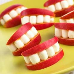 Creative use of apples and marshmellos