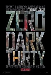 Zero Dark 30 poster