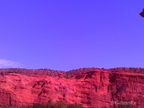 When you first enter Jemez via Highway 4, you are greeted by these towering red rocks.