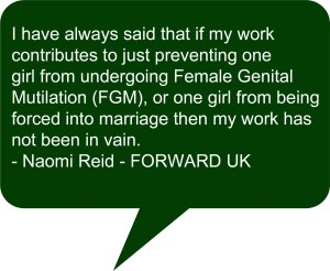 Profile of FORWARD UK with Naomi Reid