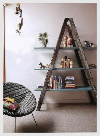 Recycled use for a ladder