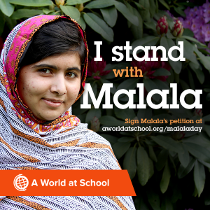 I stand with Malala
