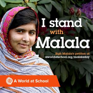 I stand with Malala