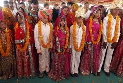 Mass child marriage ceremony