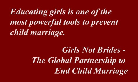 Quote on Child marriage