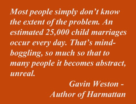 Quote on Child Marriage by Gavin Weston