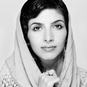 Black and white picture of Roya Mahboob