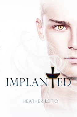 Implanted book cover